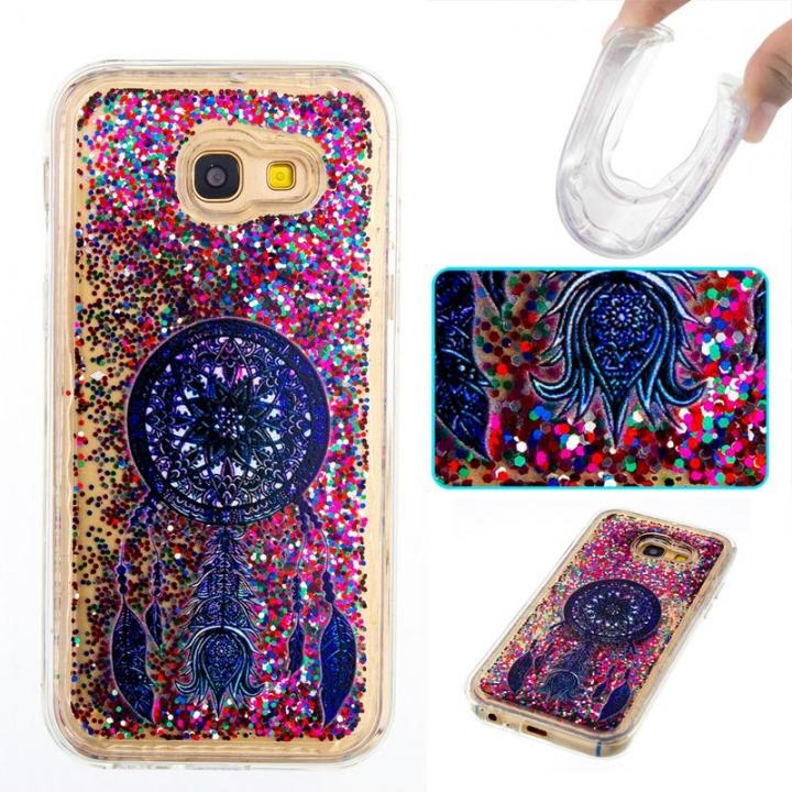 Samsung Galaxy A5 2017 Case,Liquid Quicksand Transparent Soft TPU Silicone Case  (pattern 4) For Samsung Galaxy A5 2017