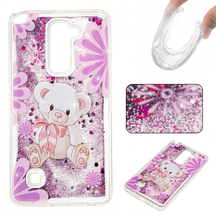 LG LS775 Case,Liquid Quicksand Floating Clear Soft TPU Protective Cover (pattern 4) For LG LS775