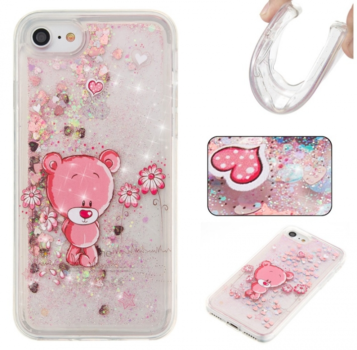 Iphone 7G/8G Case,Liquid Quicksand Floating Clear Soft TPU Protective Cover (pattern 8) For Iphone 7G/8G