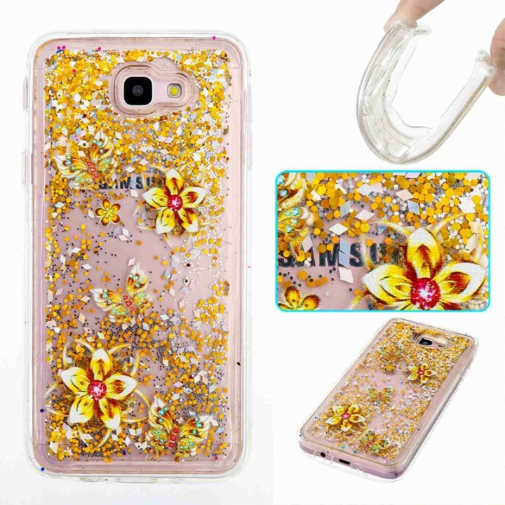 Galaxy J5 Prime / On5 2016 Case,Liquid Quicksand Transparent Soft TPU Silicone Case  (pattern 9) For Galaxy J5 Prime / On5 2016