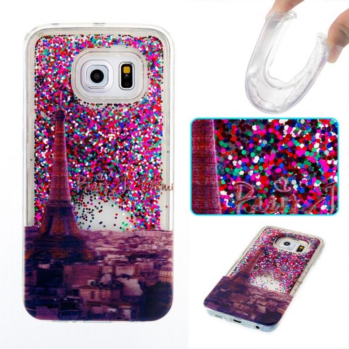 Samsung Galaxy S6 edge Case,Liquid Quicksand Transparent Soft TPU Silicone Case  (pattern 2) For Samsung Galaxy S6 edge