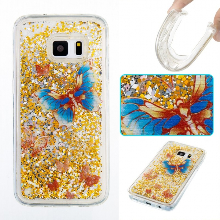 Samsung Galaxy S7 Case,Liquid Quicksand Transparent Soft TPU Silicone Case  (pattern 3) For Samsung Galaxy S7