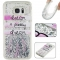 Samsung Galaxy S7 edge Case,Liquid Quicksand Floating Clear Soft TPU Protective Cover (pattern 2) For Samsung Galaxy S7 edge