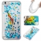 Iphone 6 plus Case,Liquid Quicksand Floating Clear Soft TPU Protective Cover (pattern 6) For Iphone 6 plus