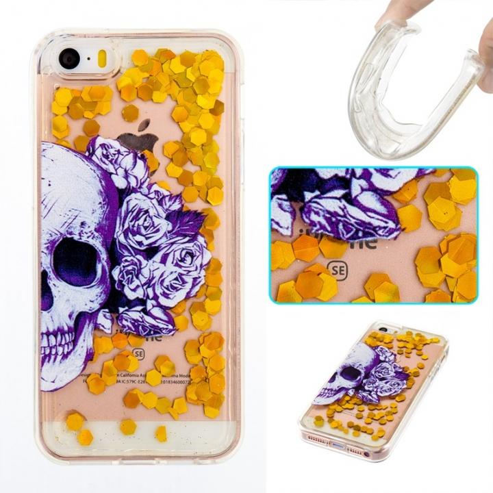 iPhone 5S SE 5C 5G Case,Liquid Quicksand Transparent Soft TPU Silicone Case  (pattern 1) For iPhone 5S SE 5C 5G