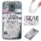 Samsung Galaxy S5 Case,Liquid Quicksand Floating Clear Soft TPU Protective Cover (pattern 2) For Samsung Galaxy S5