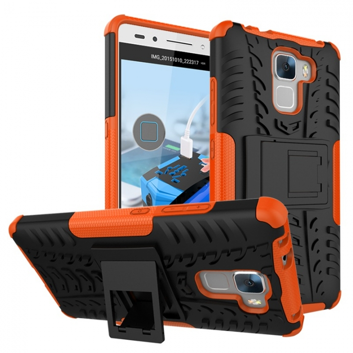 Huawei Honor 7/Honor 5C/Honor 7X/Honor 9 Lite/honor 10 Case,PC+TPU Tough Dual Layer Cover Shell (orange) For Huawei honor 7