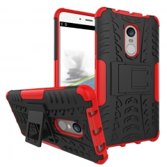 Xiaomi Redmi Note 4/Note 4X Case,Hard PC+Soft TPU Shockproof Tough Dual Layer Cover Shell ( red) .