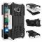 Nokia Lumia 550 Case,Hard PC+Soft TPU Shockproof Tough Dual Layer Cover Shell (white) For Nokia Lumia 550