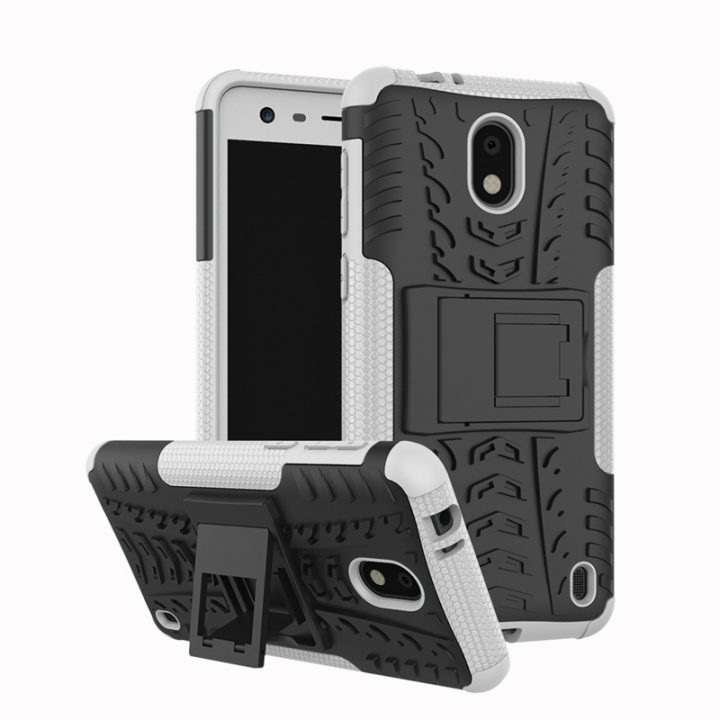 competitive price 424c4 d5ff1 Nokia 2 /Nokia 6 2018/Nokia 1/ Nokia 3 Case,Hard PC+Soft TPU Shockproof  Tough Dual Layer Cover Shell (white) For Nokia 3