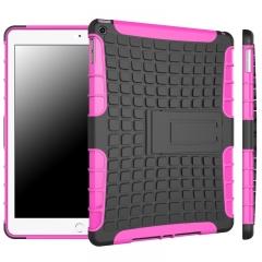 iPad Air 2 / iPad 6 Case,Shockproof TPU+Anti-Scratch PC Bumper Case  (Rose red) For iPad Air 2 / iPad 6