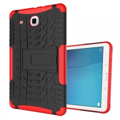 Samsung Galaxy Tab E 9.6 T560 Tablet Case,Shockproof TPU+Anti-Scratch PC Bumper Case (Red) For Galaxy Tab E 9.6 T560