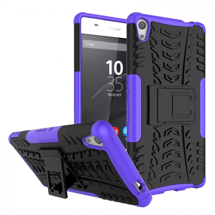 Sony Xperia C6/XA Ultra Case,Hard PC+Soft TPU Shockproof Tough Dual Layer Cover Shell (purple) For Sony Xperia C6/XA Ultra