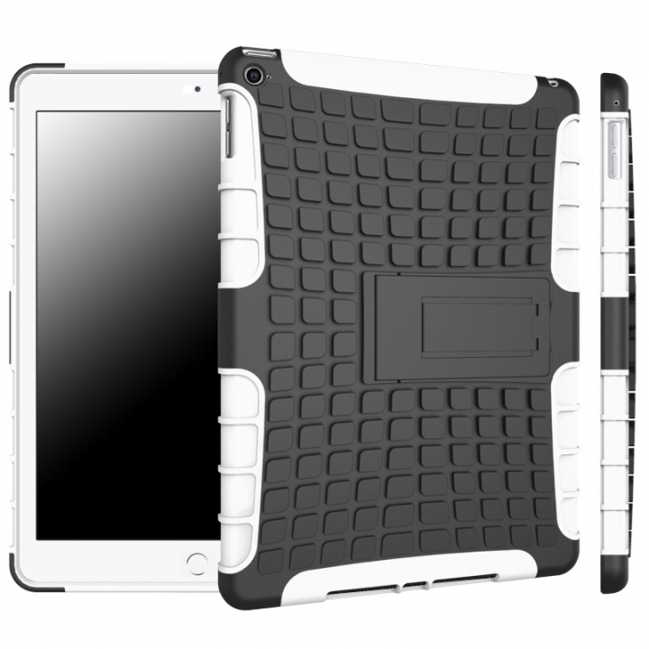 iPad Air 2 / iPad 6 Case,Shockproof TPU+Anti-Scratch PC Bumper Case  (white) For iPad Air 2 / iPad 6