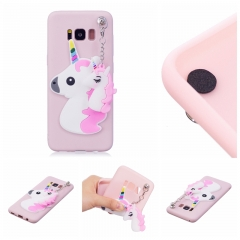 Samsung Galaxy S8 Plus Case,3D Cute Candy Color Soft TPU Rubber Protective Case Christmas Gifts (Light pink unicorn) For Samsung Galaxy S8 Plus
