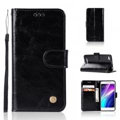 Xiaomi Redmi 5 4A 5A /5 Plus /Note 5 Pro/S2 /Mi 6X Case,PU Leather Wallet Style Stand Flip Case (black) For Xiaomi Redmi 4A