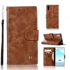 Sony Xperia XZ/XZS/L1/XA1/XA/X performance/XA ULtra/C6 /L2 Case,PU Leather Wallet Style Stand Cover (brown) For Sony Xperia XZ/XZS