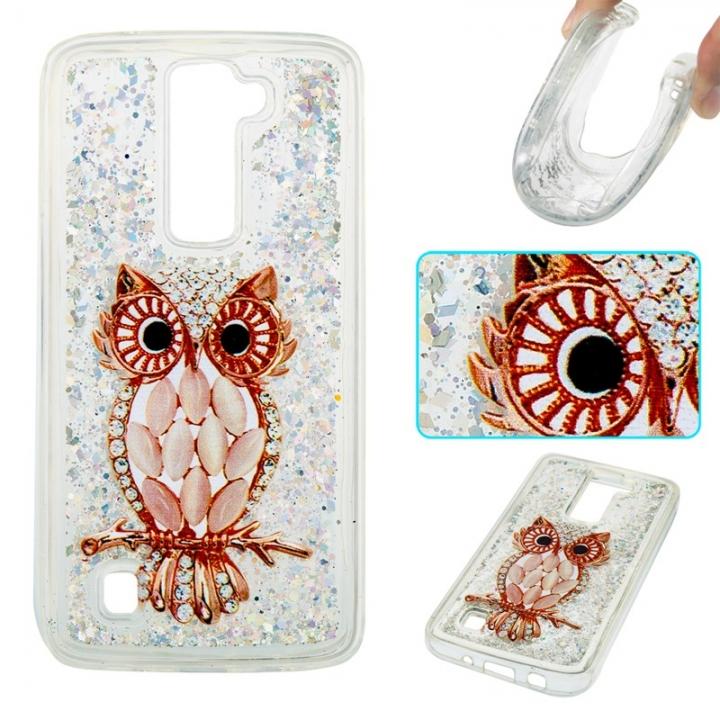 LG K7 / LG K8 Case,Liquid Quicksand Transparent Soft TPU Silicone Case  (pattern 8) For LG K7 / LG K8