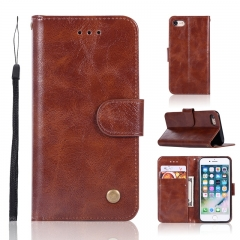 iPhone 7 / 8 Case,High-grade retro PU Leather Wallet Style Stand Flip Case Cover (Brown) For iPhone 7 / 8