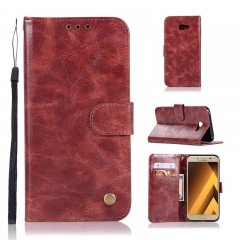 Samsung Galaxy A7 A3 A5 2017/A6 A7 A8 A9 Plus 2018/A750/A9 Star Lite Case,PU Leather Wallet  Case (Wine red) For Samsung Galaxy A7 2017