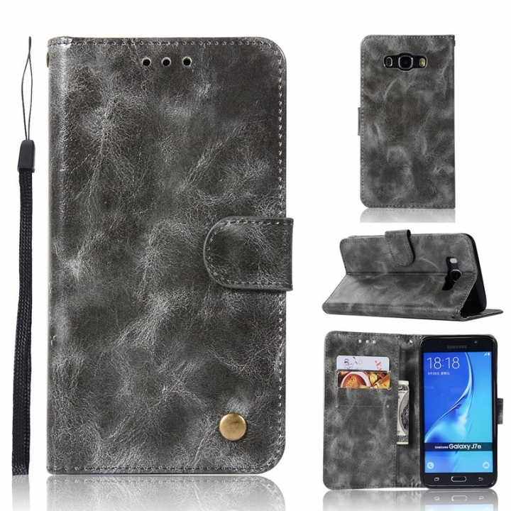 Samsung Galaxy J7 2016/J3 J5 J7 2017/J730/J520/J330 Case,PU Leather Wallet Style Stand Flip Case (gray) For Samsung Galaxy J7 2016