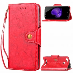 Homtom HT50 Case,Retro Business Leather Wallet Case Protective Flip Stand with Lanyard (gold) For Homtom HT50