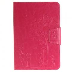 iPad Mini 1 2 3 Case,Premium PU Leather Wallet Magnetic Folio Inner Soft TPU Case Cover (rose red ) For iPad Mini 3/2/1
