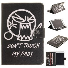 iPad Air (iPad 5) Case,PU Leather Flip Wallet Case Protective Case Kickstand Cover with Card Slots (do not touch me ) for ipad air (ipad 5)