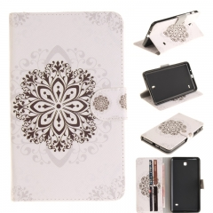 Samsung Galaxy Tab 4 7.0 T230 Case,PU Leather Flip Wallet Case Kickstand Cover with Card Slots (datura flowers ) For Galaxy T230