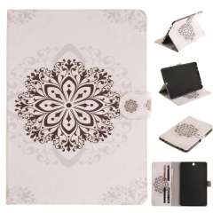 Samsung Galaxy Tab S2 9.7 T815 Case,PU Leather Flip Wallet Case Kickstand Cover with Card Slots (datura flowers ) For Galaxy T815