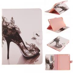 iPad 9.7 Inch 2017 Case,PU Leather Folio Flip Stand Smart Case Cover with Auto Wake/Sleep Feature (high heels) for ipad 2017 ipad (9.7)