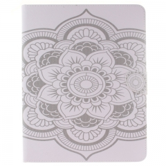 iPad 2 3 4 Case,PU Leather Folio Flip Stand Smart Case Cover with Auto Wake/Sleep Feature (big flower) For iPad 2 3 4