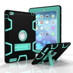 Apple iPad 2/3/4 Case,Shockproof Heavy Duty Rugged Hybrid Kickstand Case Cover (pattern 5) for ipad 2 / ipad 3 / ipad 4
