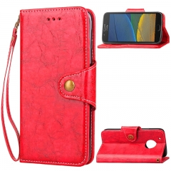 Motorola Moto G5 Plus/G5S /G5S Plus/Z Play/Z2 Play Case,PU Leather Wallet Case Protective Flip Stand (red) For Moto G5 Plus