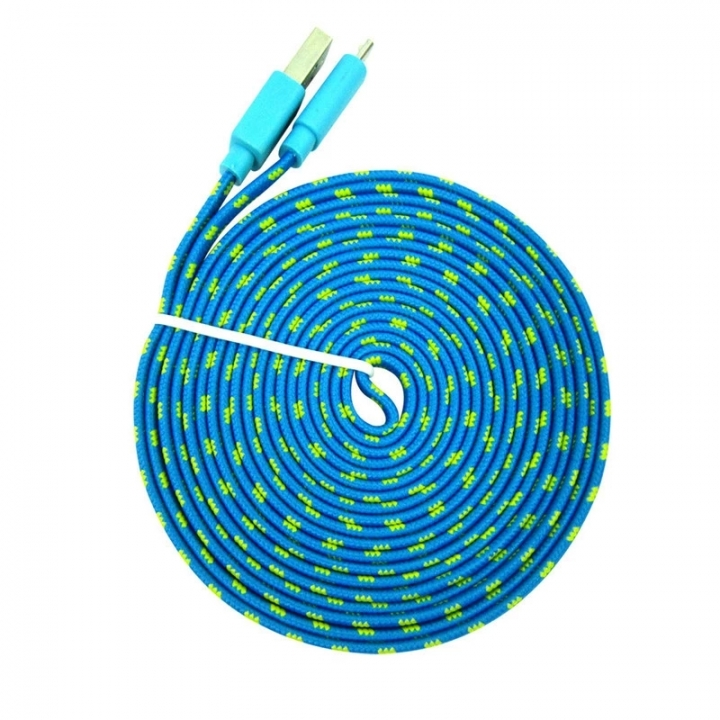 3M /2M /1M Micro USB Data Sync Charger Cable for Samsung, HTC, LG, Sony, Xiaomi, Most Android Phones (pattern 3) 3 (M)