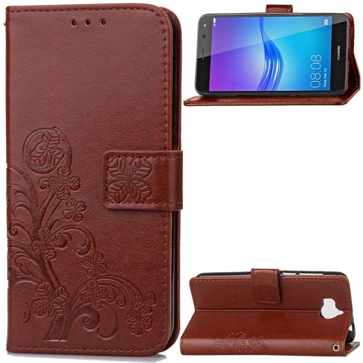Huawei Y5 2017 / Y6 2017 Case,Wallet PU Leather Protects Case Magnetic Closure Folio Cover