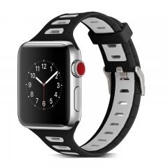 apple watch Series 1/2/3  T-type color silicone bracelet,For Men and women watch (pattern a,38mm)