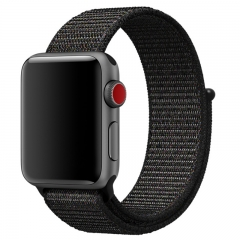 Apple Watch Band Nylon, Lightweight Breathable Replacement Band for iwatch Series 3/2/1 (black) 42mm
