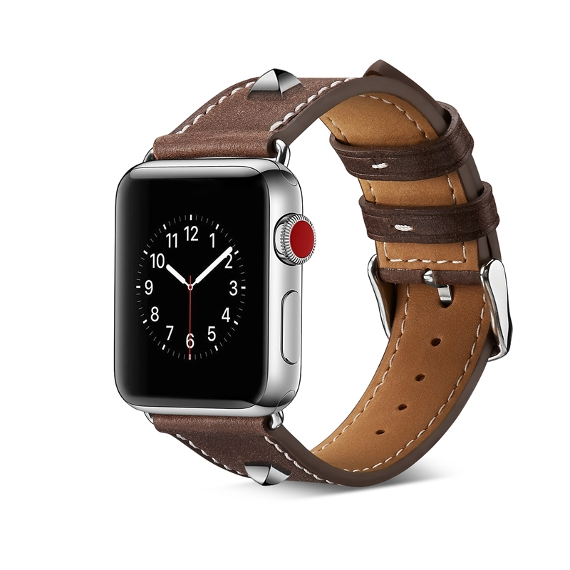 6f7cd867dbe Kilimall  Apple Watch Band 38mm 42mmRivet Leather Replacement ...
