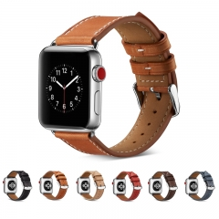 Genuine Leather Buckle Wrist Watch Band Bracelet Iwatch Strap Belt bands for Apple Watch (brown) 38mm
