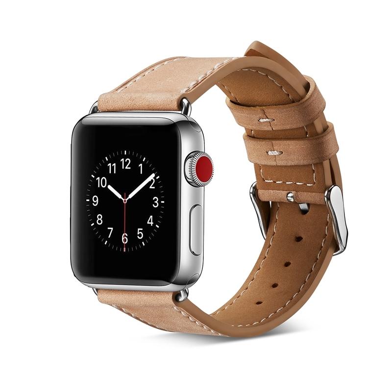 ef2bf3eba66 Kilimall  Genuine Leather Buckle Wrist Watch Band Bracelet Iwatch ...