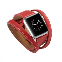 Apple Watch 1 / 2 / 3 Real Cowhide Plain Watch Band (pattern a,38mm)