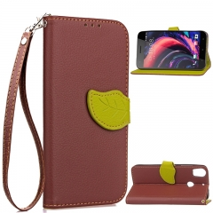 HTC Desire 10 Pro Case,[Card Slots][Stand] PU Leather Wallet Case with Wrist Strap (brown) For HTC Desire 10 Pro