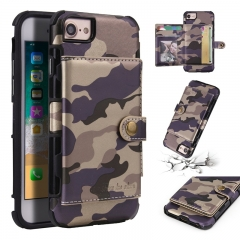 Samsung Galaxy S8 S9 Plus/ Note 8/ G530/J2 Prime Case,Camouflage [Card Slot] Magnetic Buckle Shell (purple) For Samsung Galaxy S8