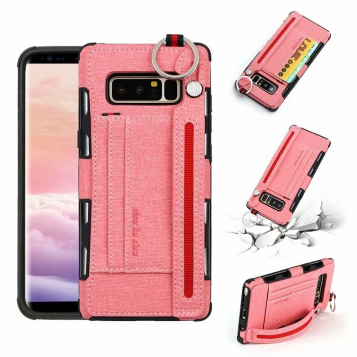 innovative design 37461 dcf53 Apple iPhone X 6 7 8 /iPhone 6/7/8 Plus Case,[Card slot ]Security Hand  strap Holder and finger clasp (Pink) For iPhone 6 7 8 (4.7