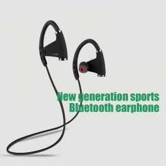 new wireless Bluetooth sports headphones with NFC function Outdoor travel ear-mounted headset (black)