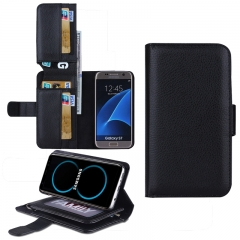 Samsung Galaxy S3 S4 S5 S8 S7 S6 Edge Plus,Note 4 3 5 Case,7 Card Slot BracketB wallet Phone Case (black) For Samsung Galaxy Note 5