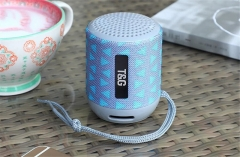 Explosion models TG129 Bluetooth speaker call outdoor portable card fashion gift mini audio (Gray blue) one size