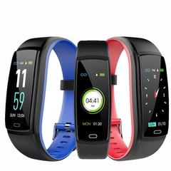Color screen smart bracelet / heart rate / blood pressure / sleep USB direct charge, IP68 waterproof (blue) one size