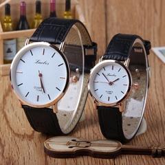 Ultra-thin men's and women's watch watch Men's watch student watch (black) Men's watch